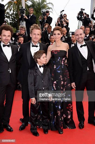 Nicolas Benamou Philippe Lacheau Enzo Tomasini Clotilde Courau Julien Arruti at the Dragon 2 premiere during the 67th Cannes Film Festival