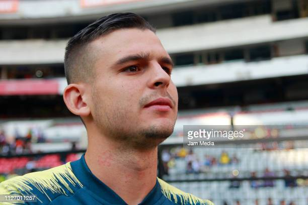 Nicolas Benedetti of America looks on during the fifth round match between America and Pachuca as part of the Torneo Clausura 2019 Liga MX at Azteca...
