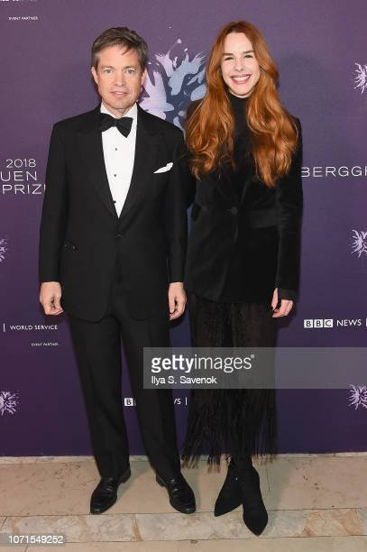 Nicolas Berggruen and Eglantina Zingg attend the Third Annual Berggruen Prize Gala at the New York Public Library on December 10 2018 in New York City