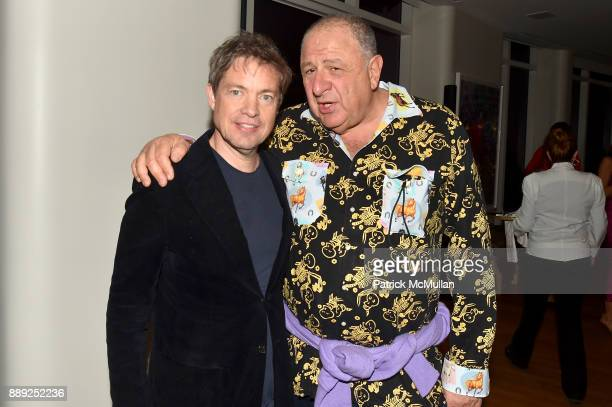 Nicolas Berggruen and Jean Pigozzi attend the Galerie Gmurzynska Dinner in Honor of Jean Pigozzi at the Penthouse at the Faena Hotel Miami Beach on...