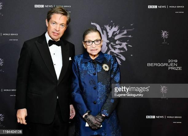 Nicolas Berggruen and Justice Ruth Bader Ginsburg attend the Fourth Annual Berggruen Prize Gala celebrating 2019 Laureate Supreme Court Justice Ruth...