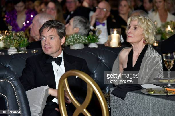 Nicolas Berggruen and Martha Nussbaum attend the Third Annual Berggruen Prize Gala at the New York Public Library on December 10 2018 in New York City