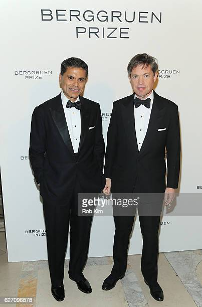Nicolas Berggruen Chairman Berggruen Institute and journalist Fareed Zakaria attend the Berggruen Prize Gala Honoring Philosopher Charles Taylor at...