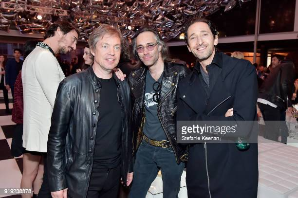 Nicolas Berggruen Dustin Murdoch and Adrien Brody attend Mr Chow 50 Years on February 16 2018 in Vernon California
