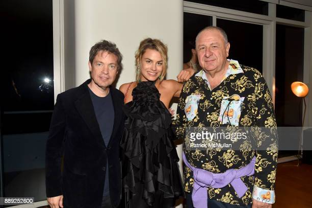 Nicolas Berggruen Isabelle Bscher and Jean Pigozzi attend the Galerie Gmurzynska Dinner in Honor of Jean Pigozzi at the Penthouse at the Faena Hotel...