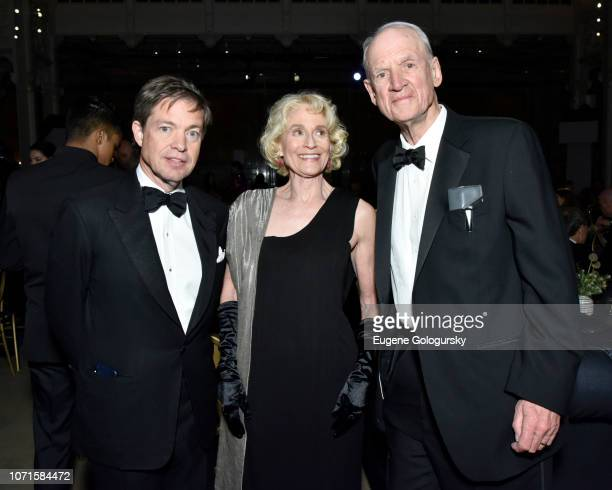 Nicolas Berggruen Martha Nussbaum and Charles Taylor attend the Third Annual Berggruen Prize Gala at the New York Public Library on December 10 2018...