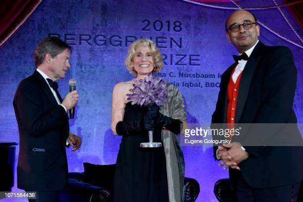 Nicolas Berggruen Martha Nussbaum and Kwame Anthony Appiah attend the Third Annual Berggruen Prize Gala at the New York Public Library on December 10...