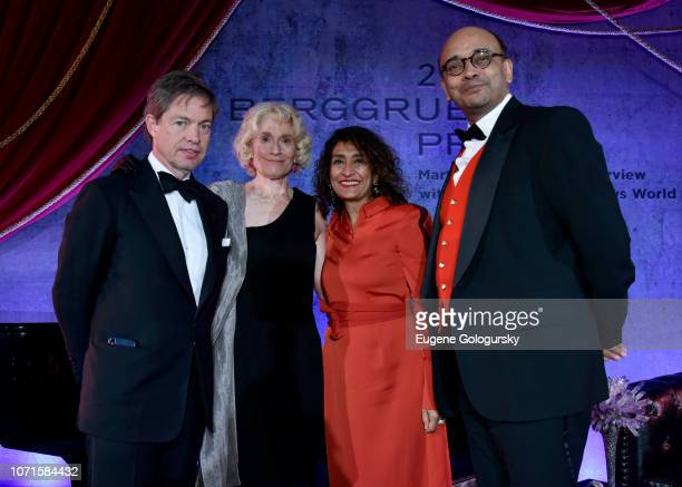 Nicolas Berggruen Martha Nussbaum Razia Iqbal and Kwame Anthony Appiah and attend the Third Annual Berggruen Prize Gala at the New York Public...