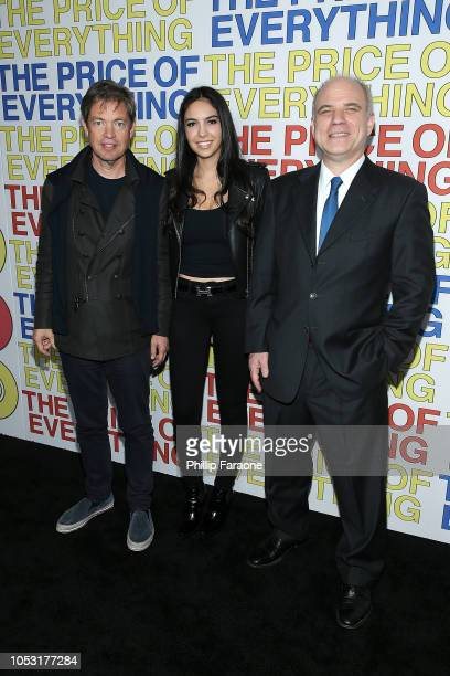 Nicolas Berggruen Noor Alfallah and Nathaniel Kahn attend HBO's The Price of Everything premiere at Hammer Museum on October 24 2018 in Los Angeles...