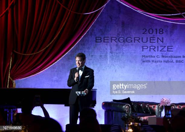 Nicolas Berggruen speaks at the Third Annual Berggruen Prize Gala at the New York Public Library on December 10 2018 in New York City