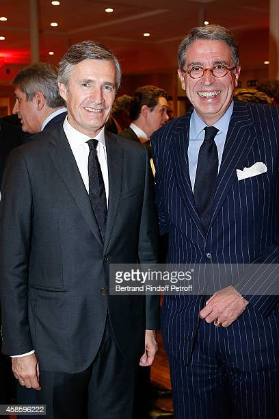 Nicolas Beytout and Chairman of the Management Board of Vivendi Arnaud de Puyfontaine attend the FrenchAmerican Foundation Gala Dinner at Salle...