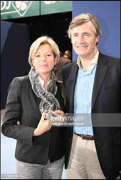 Nicolas Beytout and wife at The Open De ParisBercy On the 11th November 2009