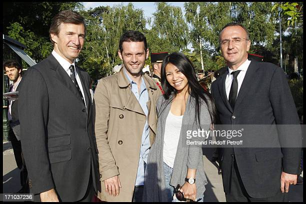 Nicolas Beytout Anggun and companion Cyril Montana Marc Antoine Jamet at Jardin D'Acclimatation 150th Anniversary With Les Echos Des Fanfares