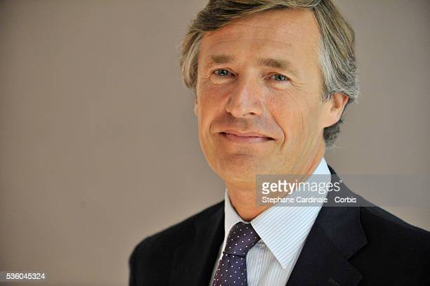 Nicolas Beytout attends the ITele press conference