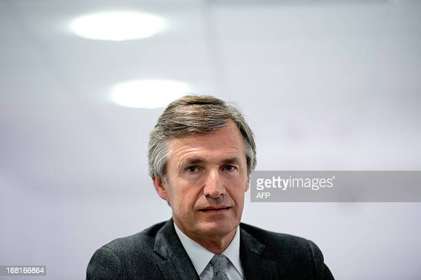 Nicolas Beytout CEO and founder of new French media company L'Opinion which aims to be a daily online newspaper also sold in print form five days a...