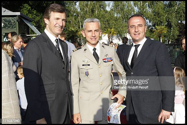 Nicolas Beytout Colonel Benoit Royal Marc Antoine Jamet at Jardin D'Acclimatation 150th Anniversary With Les Echos Des Fanfares