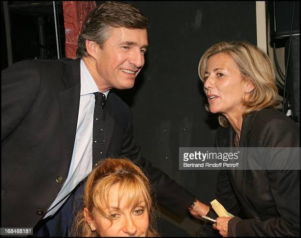 "Nicolas Beytout, Natalie Dessay and Claire Chazal at ""Radio Classique"" Celebrates The ""Elections De L' Opera 2008"" At Theatre Mogador In Paris."