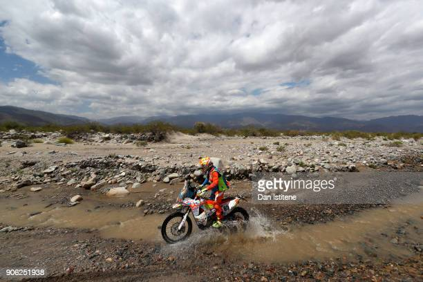 Nicolas Billaud of France and Village Motos Team Objectif Aventure rides a KTM 450 Rally Replica bike in the Classe 22 Marathon during stage eleven...