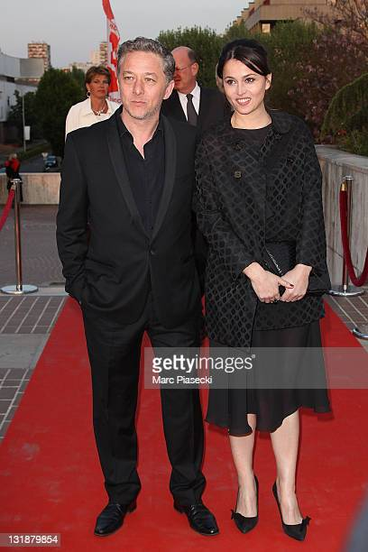 Nicolas Briancon and Anne Charrier attend the 25th Moliere Awards Ceremony on April 17 2011 in Creteil France