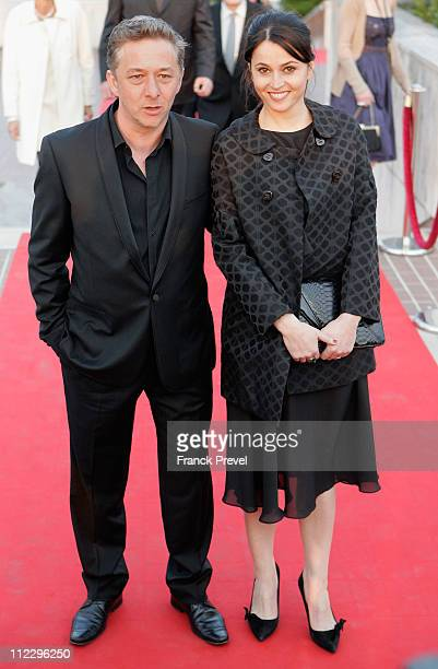 Nicolas Briancon and Anne Charrier attends the 25th Moliere Awards Ceremony at Maison Des Arts on April 17 2011 in Creteil France