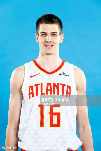Nicolas Brussino of hte Atlanta Hawks poses for a head shot during Media Day on September 25 2017 at Four Season Hotel in Atlanta Georgia NOTE TO...