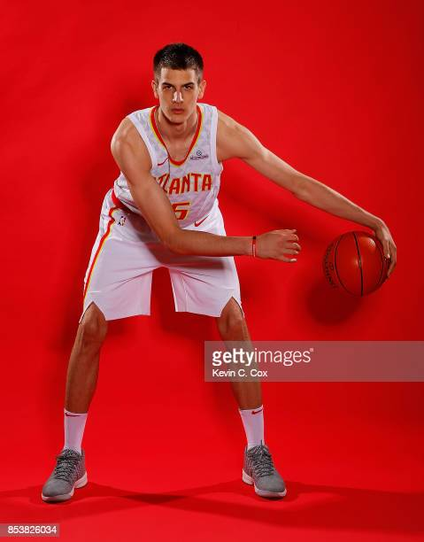 Nicolas Brussino of the Atlanta Hawks poses during media day at the Four Seasons Hotel Atlanta on September 25 2017 in Atlanta Georgia NOTE TO USER...