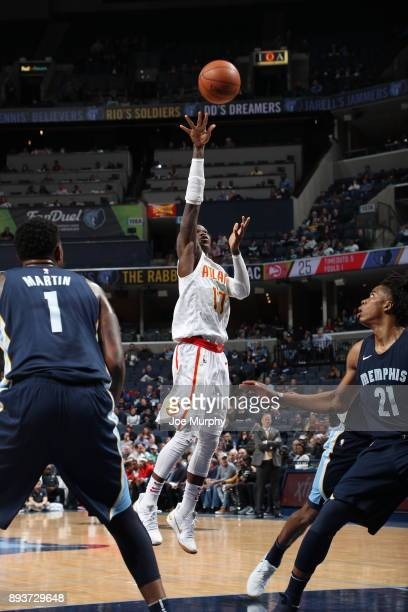Nicolas Brussino of the Atlanta Hawks shoots a layup against the Memphis Grizzlies on December 15 2017 at FedExForum in Memphis Tennessee NOTE TO...