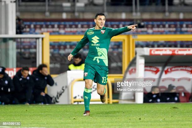Nicolas Burdisso of Torino FC in action during the Serie A football match between Torino Fc and Atalanta Bergamasca Calcio Players of Torino Fc wear...