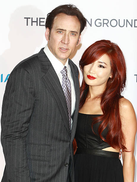The frozen ground uk film premiere nicolas cage and alice kim r attend the premiere of the frozen ground voltagebd Images