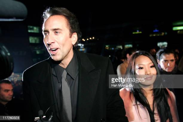 Nicolas Cage and Alice Kim during National Treasure Seoul Premiere at CGV Yongsan Theatre in Seoul South South Korea