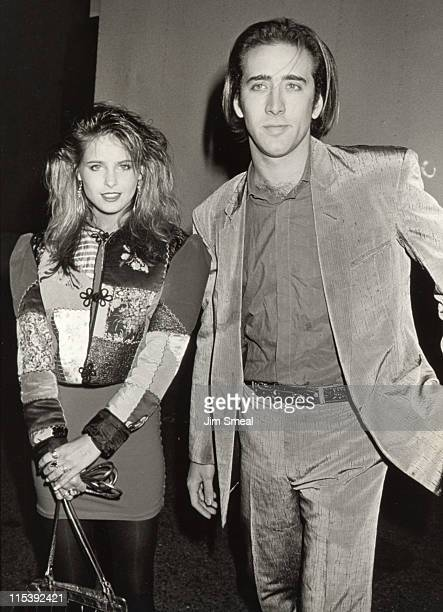 Nicolas Cage and Amy Dolent during Premiere of 'And God Created Woman' at 20th Century Fox Studios in Los Angeles California United States