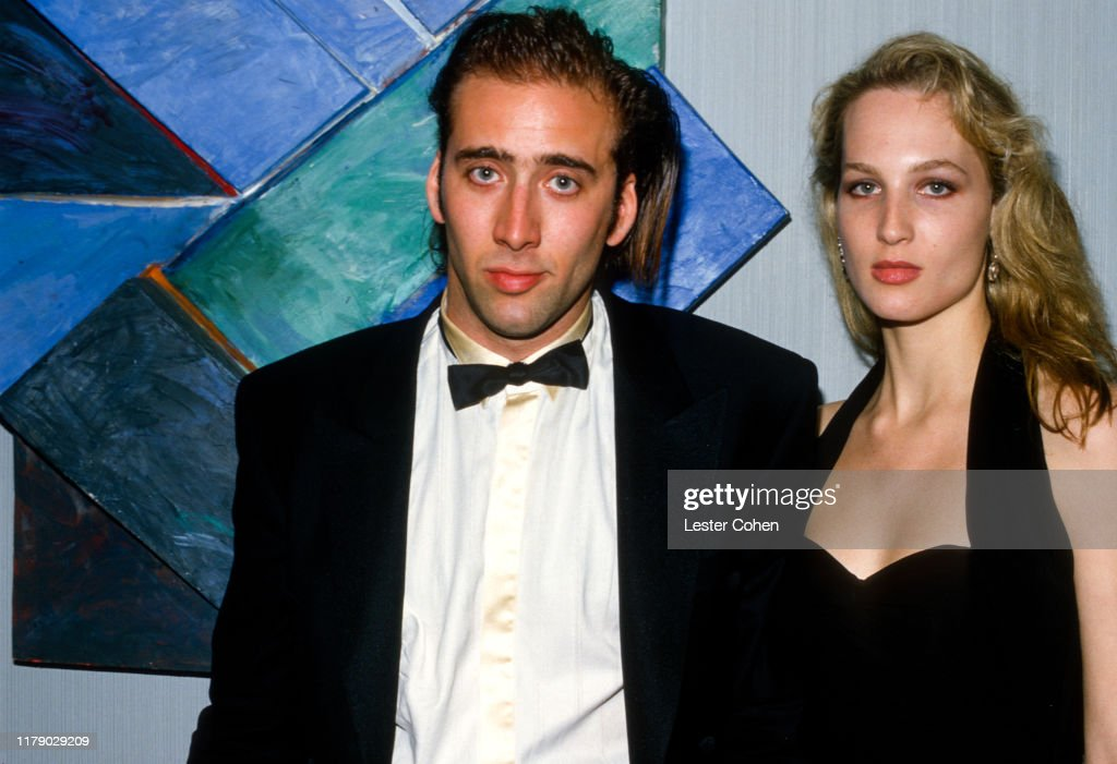 Nicolas Cage and Bridget Fonda : News Photo