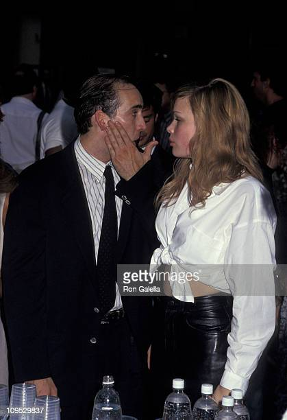Nicolas Cage and Kristen Zang during Party to celebrate beginning of production on It Could Happen to You at Coffee Shop on Broadway in New York City...