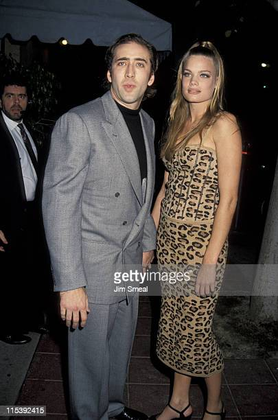 Nicolas Cage and Kristen Zang during Premiere of A Few Good Men at Mann's Village Theater in Westwood California United States
