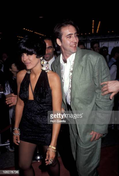 Nicolas Cage and Maria Conchita Alonso during Premiere of 'Terminator 2 Judgment Day' at Cineplex Odeon Theater in Los Angeles California United...