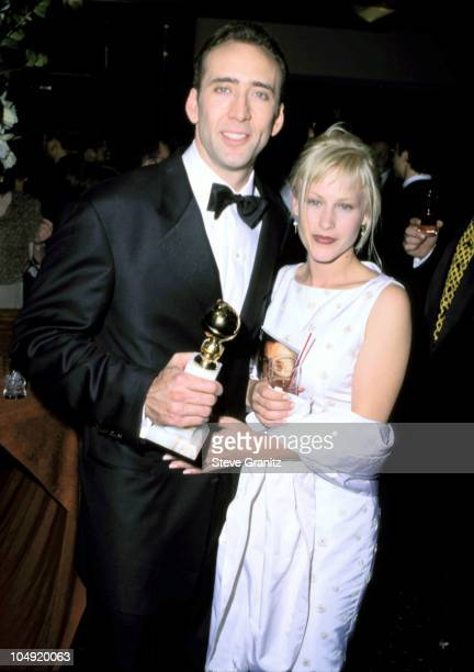 Nicolas Cage and Patricia Arquette during 53rd Annual Golden Globe Awards at Beverly Hilton Hotel in Beverly Hills California United States