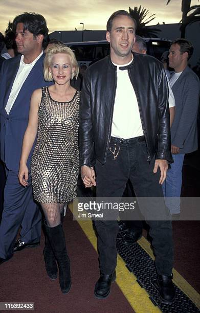 Nicolas Cage and Patricia Arquette during Premiere of 'Con Air' at Hard Rock Hotel And Casino in Las Vegas Nevada United States