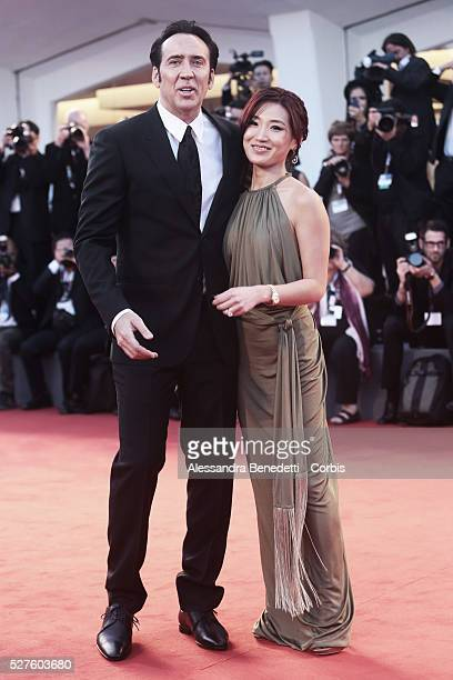 Nicolas Cage and wife Alice Kim attend the premiere of movie Joe presnted in competition during the 70th International Venice film Festival