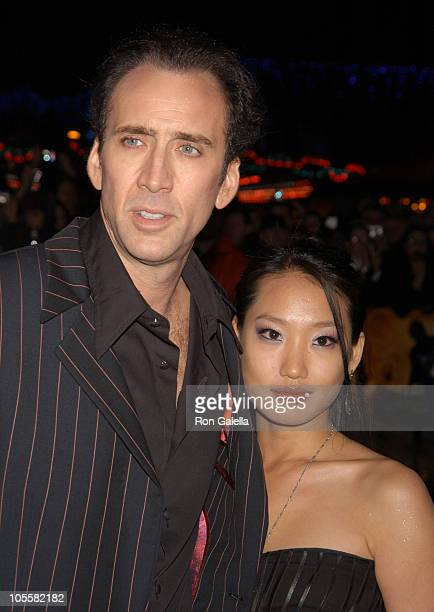 Nicolas Cage and wife Alice Kim during 'National Treasure' London Premiere at Odeon West End in London Great Britain