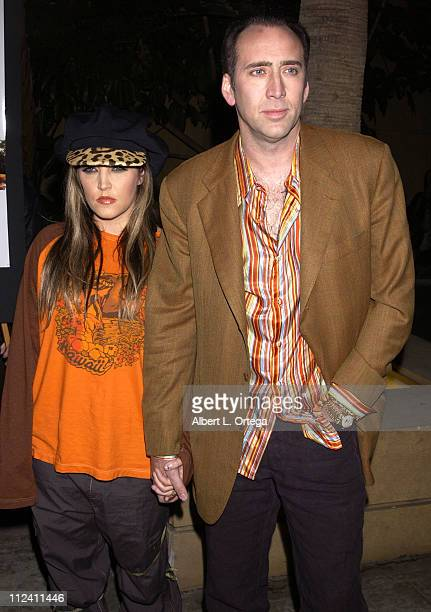 Nicolas Cage and wife Lisa Marie Presley during Screening of Adaptation at The Egyptian Theater in Hollywood California United States