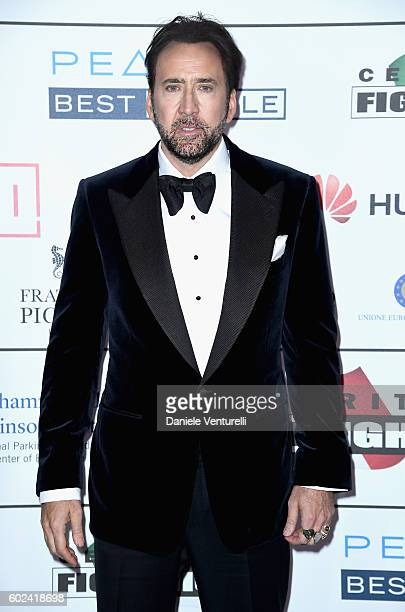 Nicolas Cage attends the Celebrity Fight Night gala at Palazzo Vecchio as part of Celebrity Fight Night Italy benefiting The Andrea Bocelli...