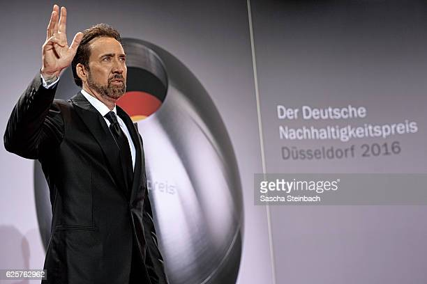 Nicolas Cage attends the German Sustainability Award 2016 at Maritim Hotel on November 25, 2016 in Duesseldorf, Germany.