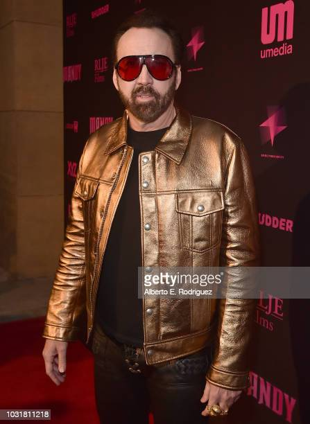 Nicolas Cage attends the Los Angeles Special Screening And QA Of Mandy At Beyond Fest at the Egyptian Theatre on September 11 2018 in Hollywood...