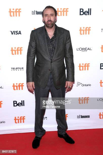 Nicolas Cage attends the Mom and Dad premiere during the 2017 Toronto International Film Festival at Ryerson Theatre on September 9 2017 in Toronto...