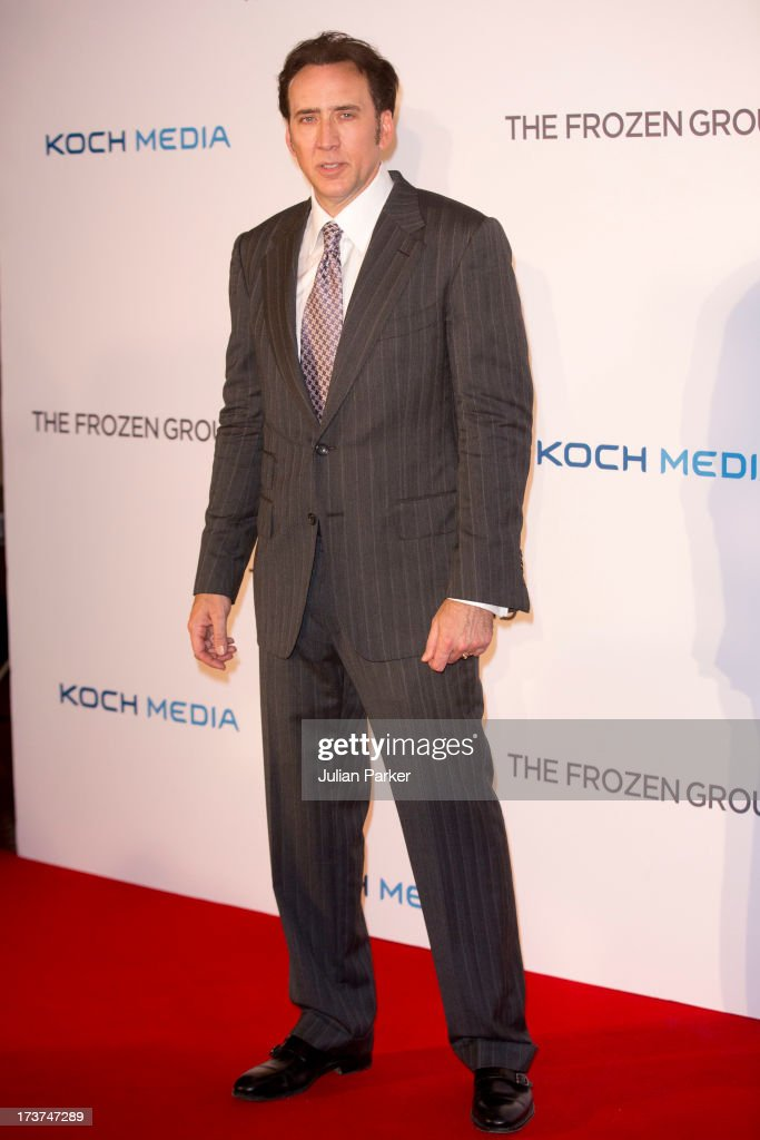 Nicolas Cage attends the UK Premiere of 'The Frozen Ground' at Vue West End on July 17, 2013 in London, England.