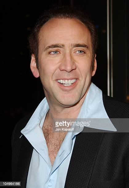 """Nicolas Cage during World Premiere of """"Monster"""" At The Closing Night of AFI Fest 2003 at The ArcLight Cinerama Dome in Hollywood, California, United..."""