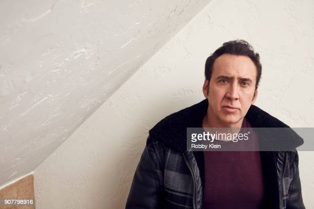 Nicolas Cage from the film 'Mandy' poses for a portrait at the YouTube x Getty Images Portrait Studio at 2018 Sundance Film Festival on January 19...