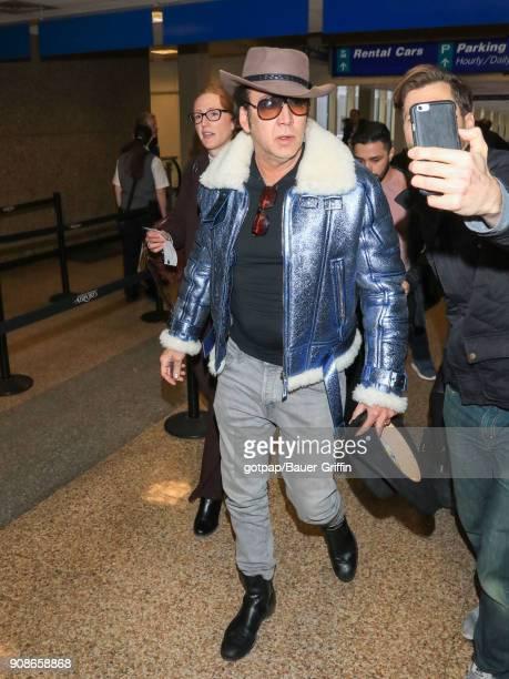 Nicolas Cage is seen at Salt Lake City International Airport on January 21 2018 in Park City Utah