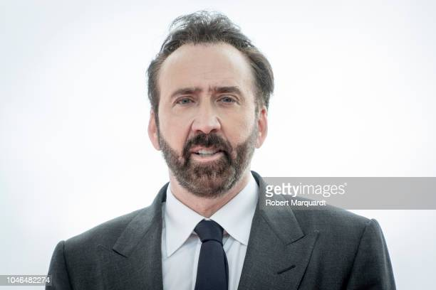 Nicolas Cage poses during a photocall on day three of the Sitges Film Festival 2018 on October 6 2018 in Sitges Spain