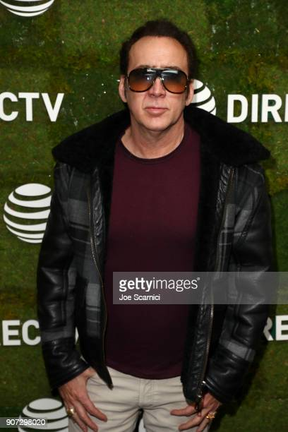 Nicolas Cage stops by DIRECTV Lodge presented by ATT during Sundance Film Festival 2018 on January 19 2018 in Park City Utah